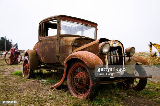 broken - vintage car stock pictures, royalty-free photos & images