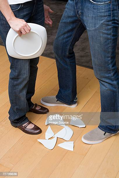 Broken plate sur une cuisine étage