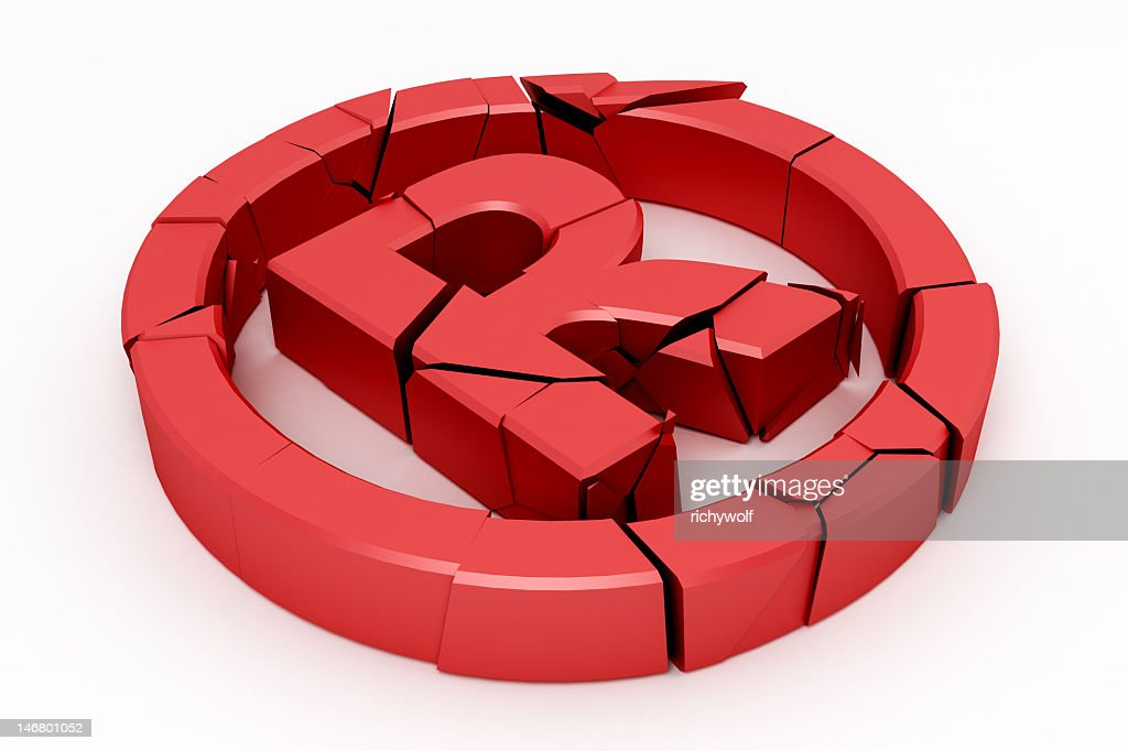 A Broken Red Copyright Sign With A R In A Circle Stock Photo Getty