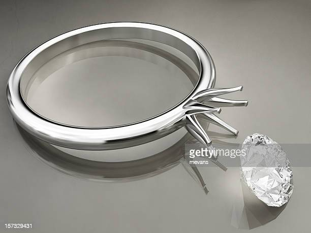broken ring - diamond ring stock pictures, royalty-free photos & images