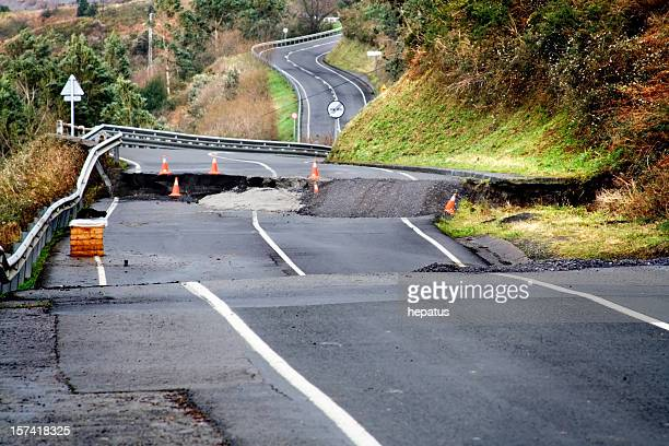 broken road - decline stock pictures, royalty-free photos & images