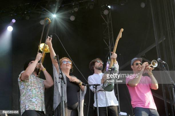 Broken Social Scene performs onstage during the Meadows Music and Arts Festival Day 3 at Citi Field on September 17 2017 in New York City
