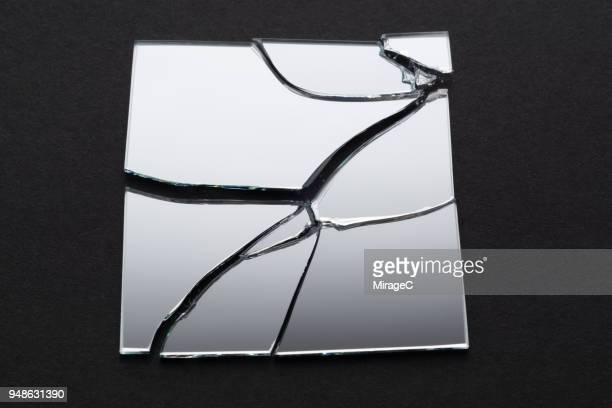 broken square mirror - shattered glass stock pictures, royalty-free photos & images
