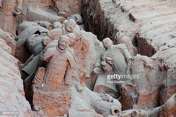 Broken terracotta soldiers at Qin Shi Huangdi Tomb