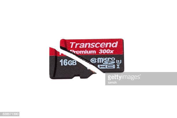 Broken Transcend micro SD card