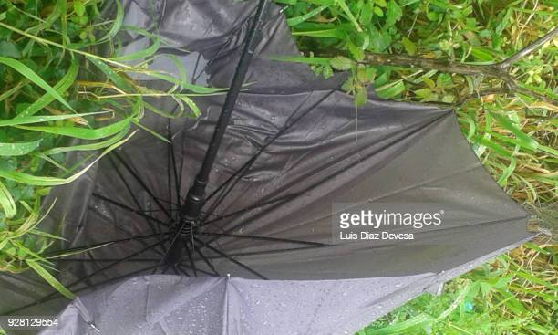 broken umbrella - inside out stock pictures, royalty-free photos & images