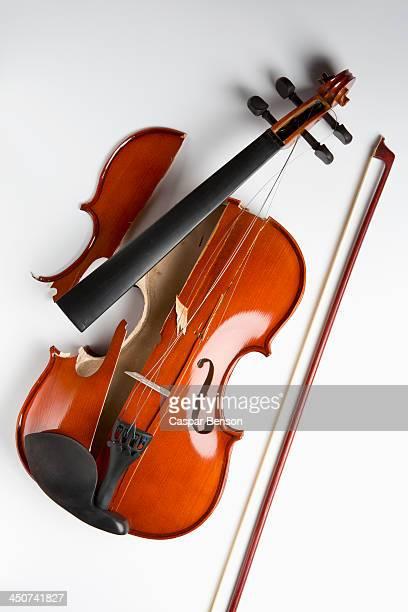 A broken violin
