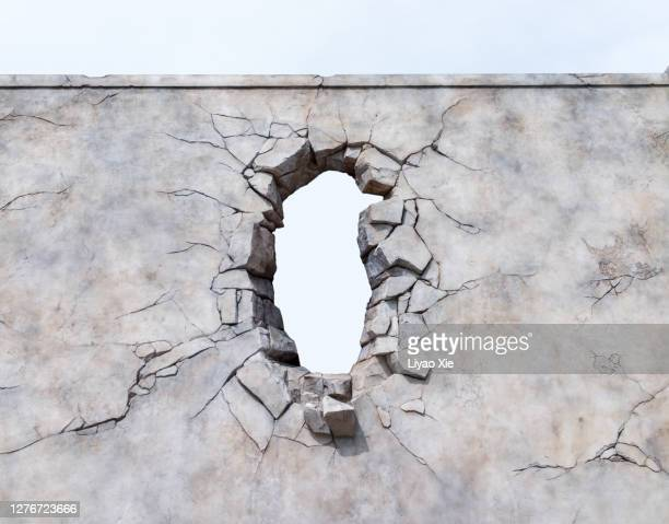 broken wall - liyao xie stock pictures, royalty-free photos & images