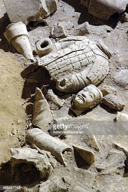 broken warrior - terracotta army stock pictures, royalty-free photos & images