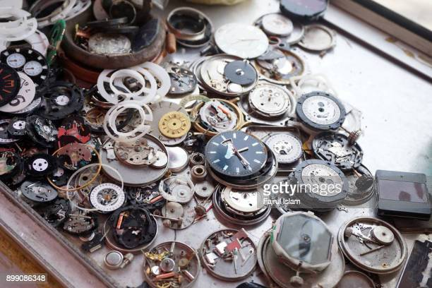 broken watch in repair shop - spare part stock pictures, royalty-free photos & images