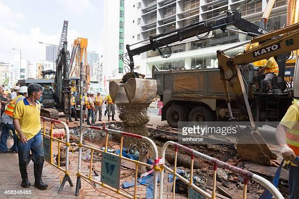 Broken Water Pipe in Hong Kong