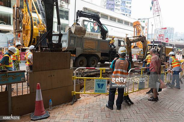 Broken Water Pipe in Hong Kong