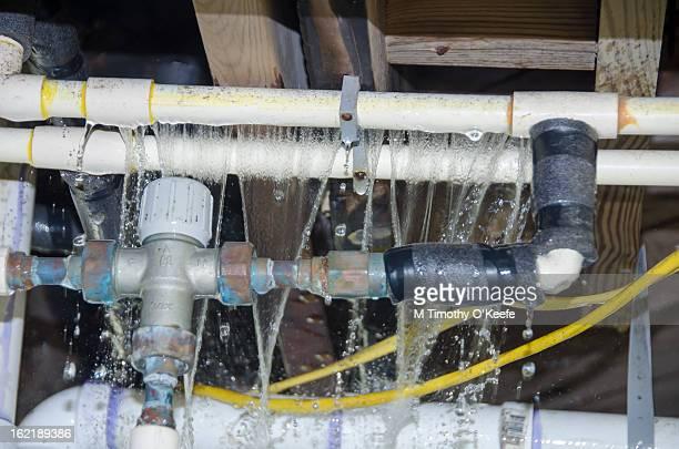 Broken water pipes