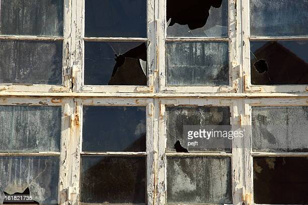 broken window and glass - pejft stock pictures, royalty-free photos & images