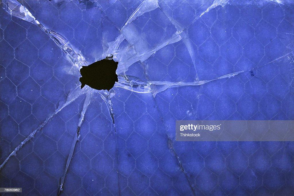 Broken window : Stock Photo