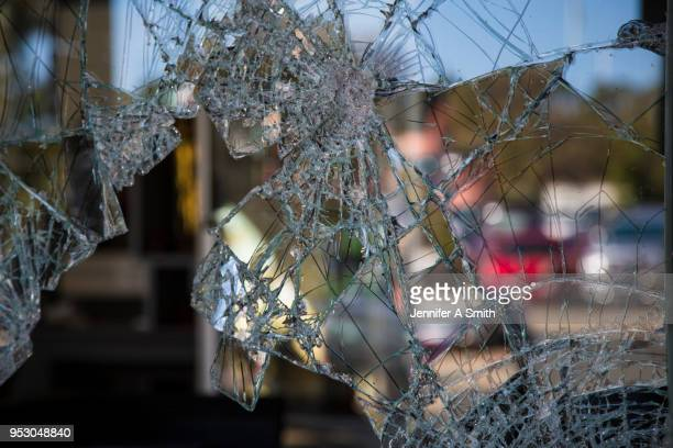 broken window - burglary stock pictures, royalty-free photos & images