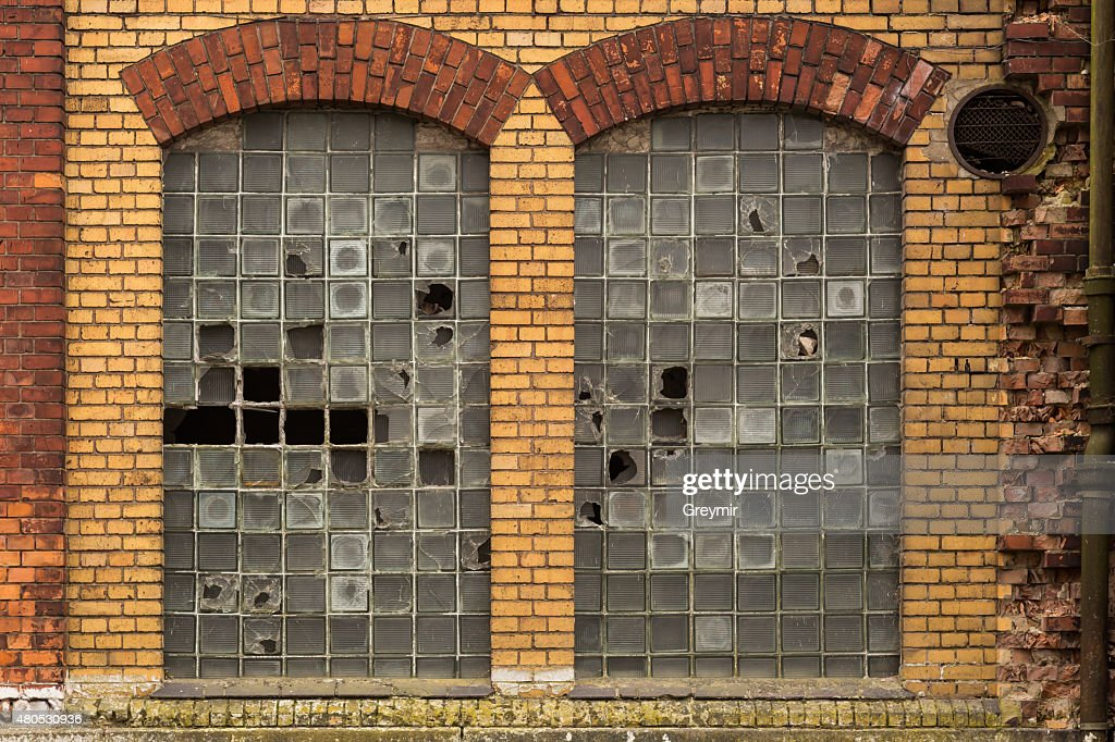 Broken windows : Stock Photo
