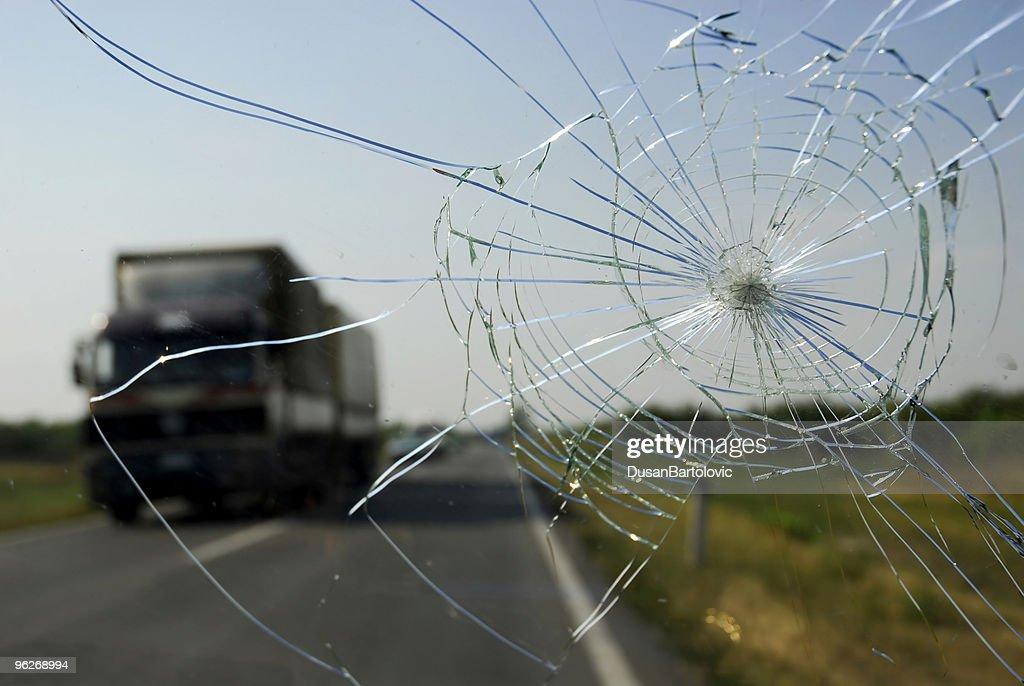 Broken Windshield : Stock Photo