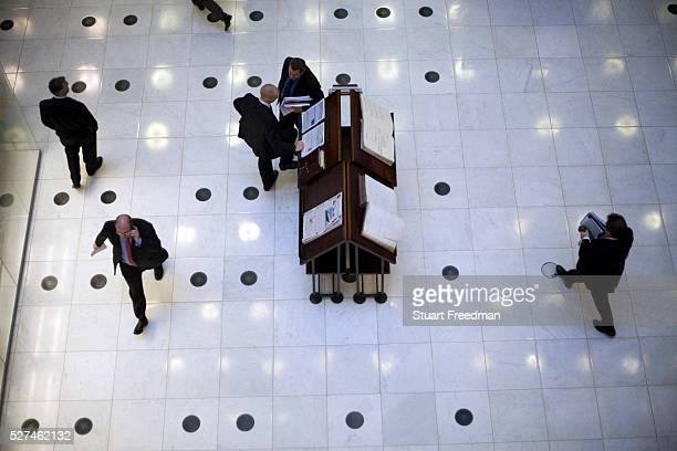 Brokers on the floor at Lloyds of London The trading floor at Lloyds is the world's leading insurance market where It serves as a meeting place where...