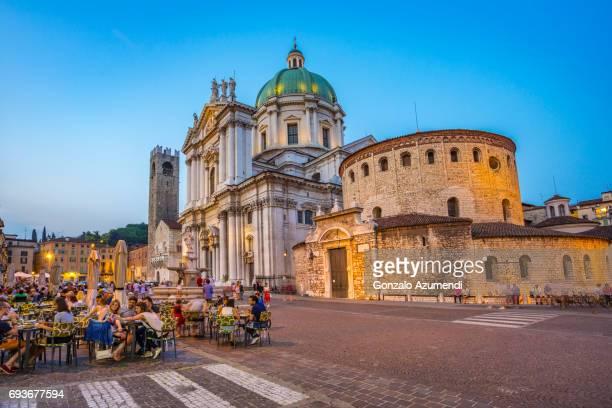 Broletto Palace, the Duomo Nuovo and Duomo Vecchio in Brescia