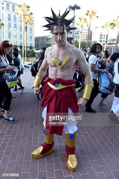 Broly cosplayer attends ComicCon International 2016 on July 20 2016 in San Diego California