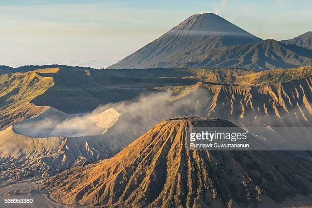 bromo, batok, and semeru volcano mountain - mt semeru stock pictures, royalty-free photos & images