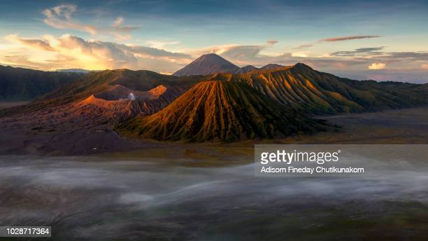bromo tengger semeru national park in east java, indonesia - bromo tengger semeru national park stock pictures, royalty-free photos & images