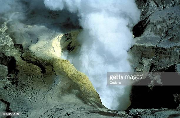Bromo vocano crater on Java Indonesia