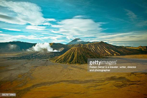 bromo volcano - east java province stock photos and pictures