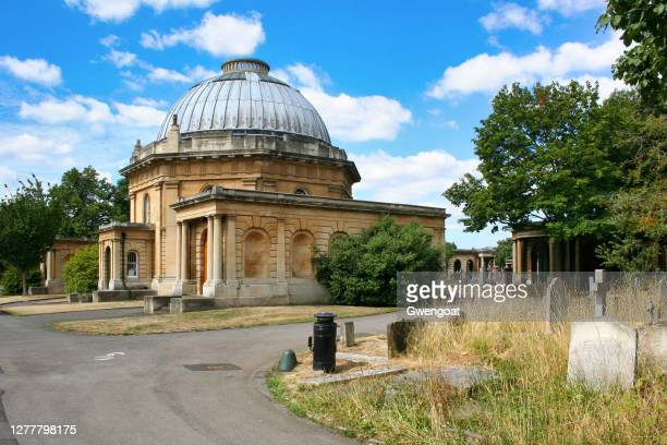 brompton cemetery chapel in london - gwengoat stock pictures, royalty-free photos & images