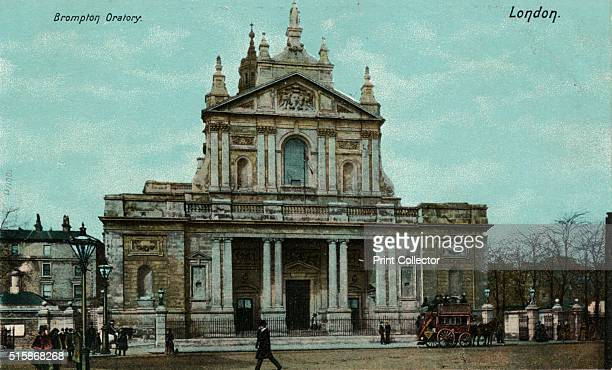 Brompton Oratory London' circa 1910 The Church of the Immaculate Heart of Mary known as Brompton Oratory is a large neoclassical Roman Catholic...