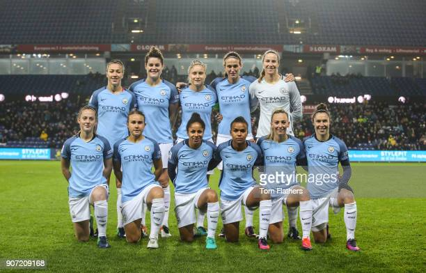 Brondby IF v Manchester City Women UEFA Womens Champions League Last 16 Second Leg Brondby Stadium Manchester City Women ahead of their match against...