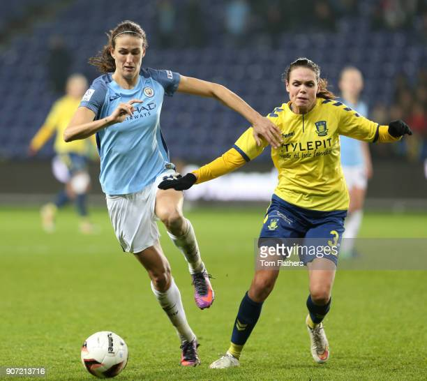 Brondby IF v Manchester City Women UEFA Womens Champions League Last 16 Second Leg Brondby Stadium Manchester City's Jill Scott in action against...