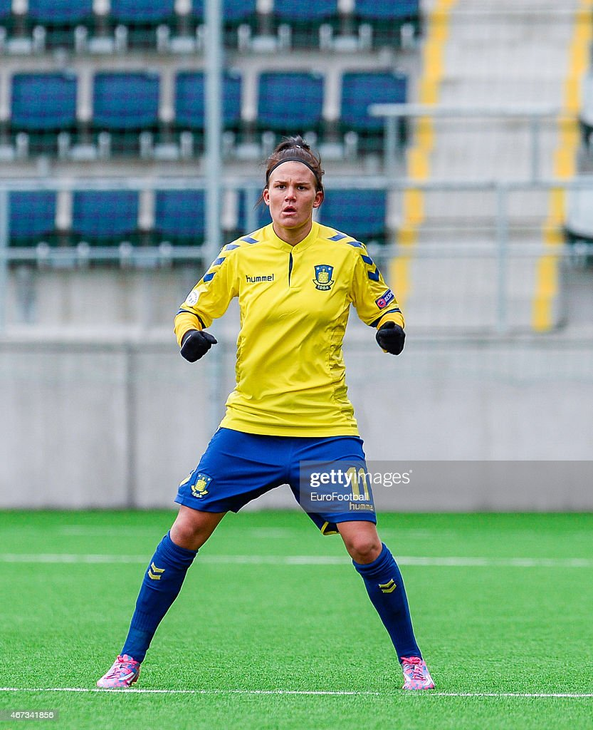 Brondby IF's forward Katrine Veje in action during the ...