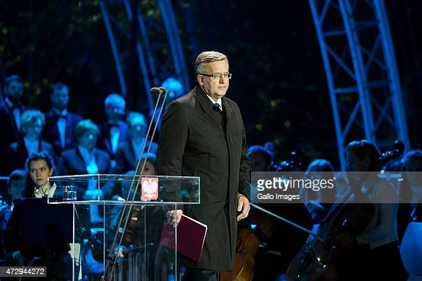 Bronislaw Komorowski President of Poland attends the 70th anniversary celebration of the end of the Second World War on May 8 2015 at Westerplatte in...