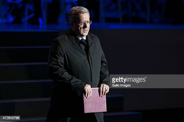 Bronislaw Komorowski President of Poland speaks at the 70th anniversary celebration of the end of the Second World War on May 8 2015 at Westerplatte...