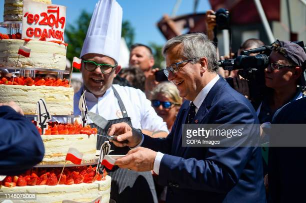 Bronislaw Komorowski seen during Freedom and Solidarity Days in Gdansk. Gdansk, in the 1980s became the birthplace of the Solidarity movement, which...