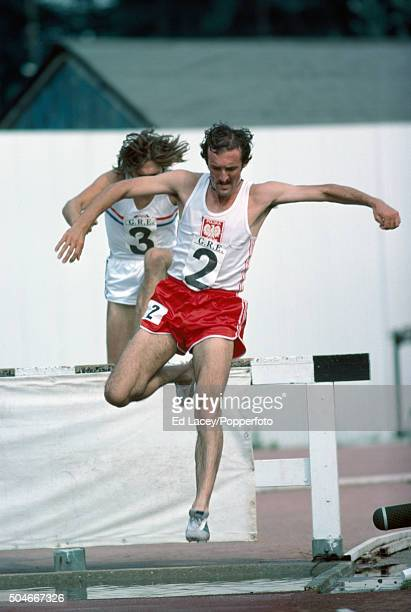 Bronislaw Malinowski of Poland competing in the men's 3000 metres steeplechase during an athletics meet at Crystal Palace in London on 4th July 1976
