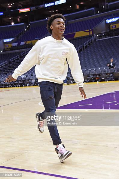 Bronny James Smiles And Runs On The Court After The La Clippers Game News Photo Getty Images