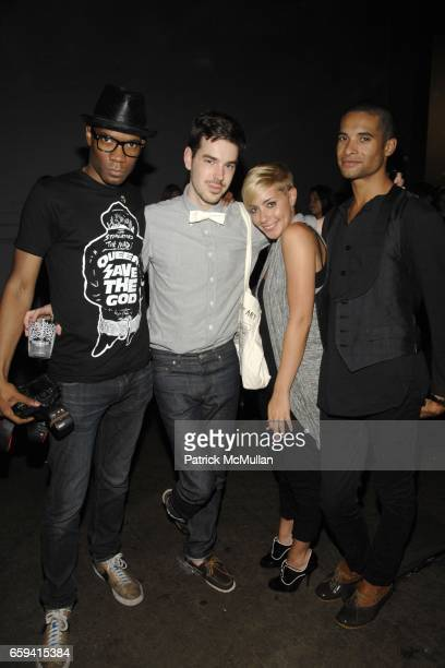 Bronques Jeff Dorsman Amanda Leigh Dunn and Paul Johnson Calderon attend ALEXANDER WANG After Party at The Gas Station at Milk Studios on September...