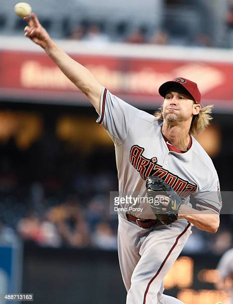 Bronson Arroyo of the Arizona Diamondbacks pitches during the first inning of a baseball game against the San Diego Padres at Petco Park May 2 2014...