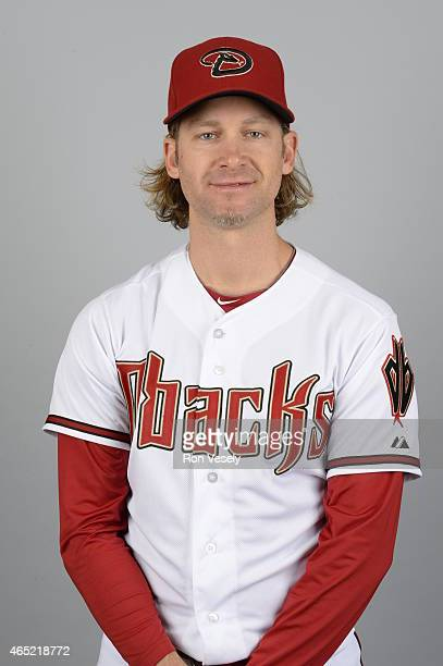Bronson Arroyo of the Arizona Diamondbacks poses during Photo Day on Sunday March 1 2015 at Salt River Fields at Talking Stick in Scottsdale Arizona