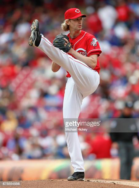 Bronson Arroyo of the Cincinnati Reds pitches during the game against the Chicago Cubs at Great American Ball Park on April 23 2017 in Cincinnati Ohio