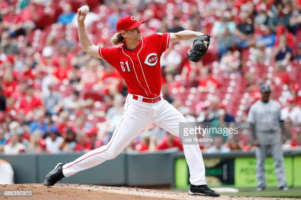 Bronson Arroyo of the Cincinnati Reds pitches in the second inning of a game against the Colorado Rockies at Great American Ball Park on May 21 2017...