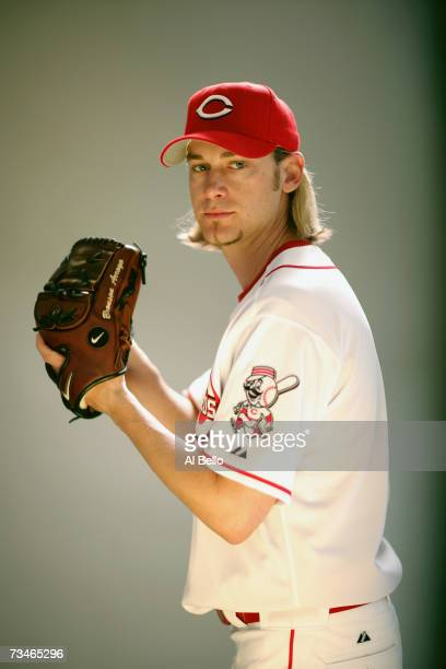 Bronson Arroyo of the Cincinnati Reds poses during Photo Day on February 23 2007 at Ed Smith Stadium in Sarasota Florida