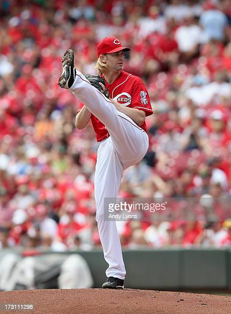 Bronson Arroyo of the Cincinnati Reds throws a pitch during the game against the Seattle Mariners at Great American Ball Park on July 7 2013 in...