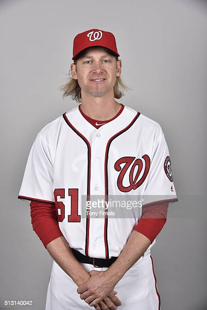 Bronson Arroyo of the Washington Nationals poses during Photo Day on Sunday February 28 2016 at Space Coast Stadium in Viera Florida