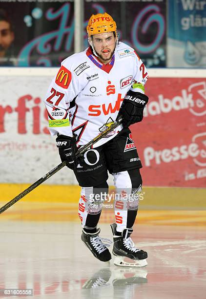 Bronson Maschmeyer of the Fischtown Pinguins during the action shot on September 3 2016 in Bremerhaven Germany