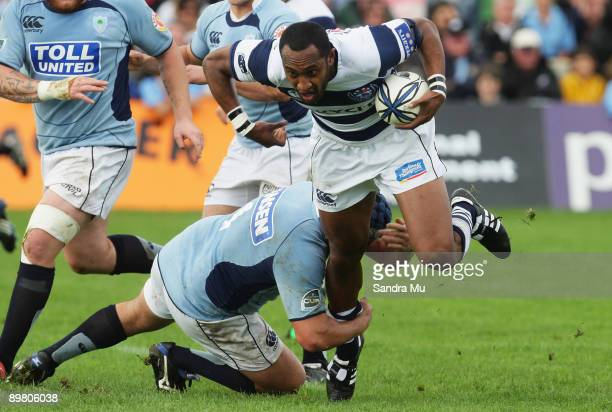 Bronson Murray of Northland makes a tackle on Joe Rokocoko of Auckalnd during the Air New Zealand Cup match between Northland and Auckland at...