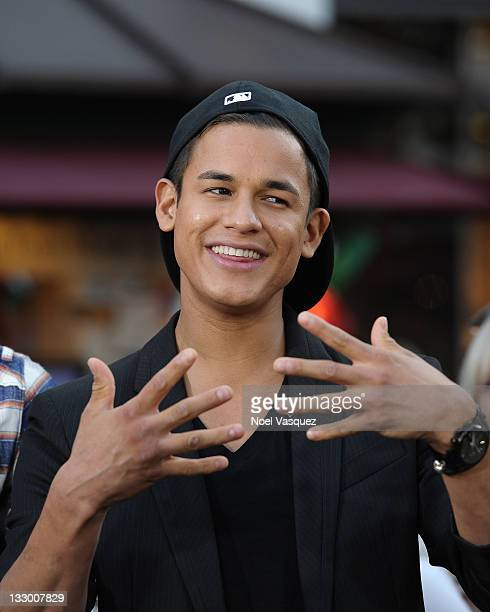 Bronson Pelletier of the Wolfpack visits Extra at The Grove on November 15 2011 in Los Angeles California